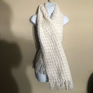 Knit Thick White Scarf